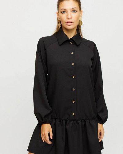 Черное платье-рубашка Karree