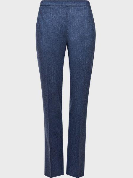 Шерстяные синие брюки Kiton