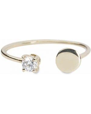 Biały złoty pierścionek Lil