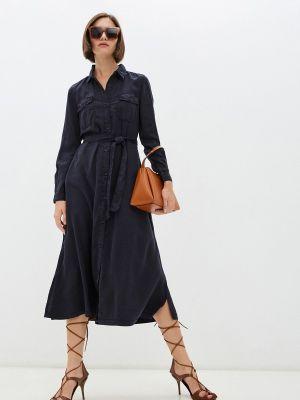 Платье рубашка - синее French Connection