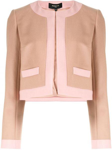 Розовый пиджак Paule Ka
