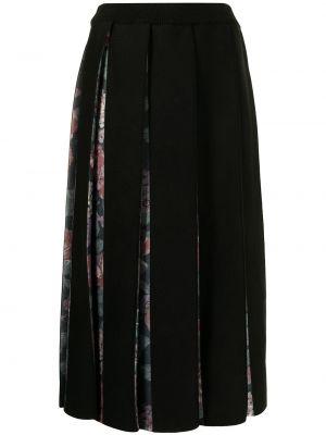 Шерстяная юбка макси - черная Antonio Marras