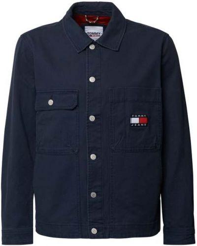 Niebieska kurtka jeansowa bawełniana Tommy Jeans