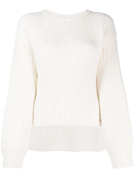 Biały sweter wełniany z długimi rękawami Genny