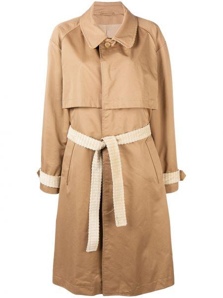 Хлопковое ватное коричневое пальто Nehera