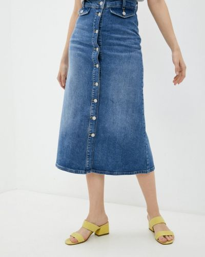Голубая весенняя юбка Selected Femme