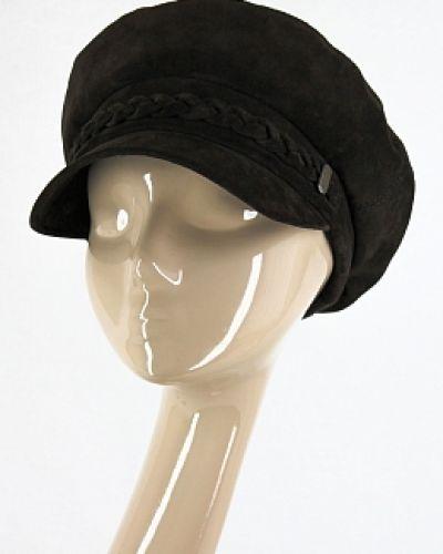 Кожаная кепка - черная Visaro