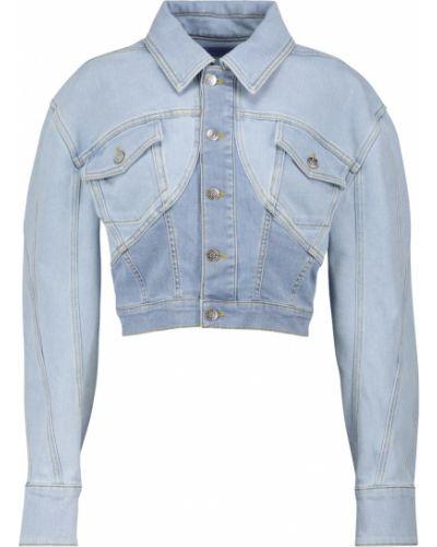 Ватная синяя джинсовая куртка винтажная Mugler