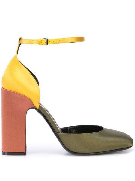 Туфли-лодочки с квадратным носком с пряжкой на каблуке Fabrizio Viti