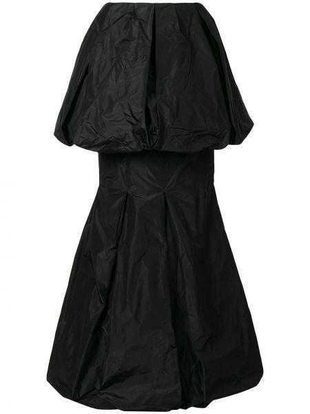 Черная ажурная с завышенной талией юбка макси каскадная Vera Wang