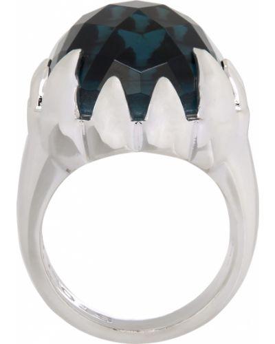 Niebieski pierścionek srebrny Stolen Girlfriends Club