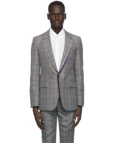 Белый удлиненный пиджак двубортный с карманами Givenchy