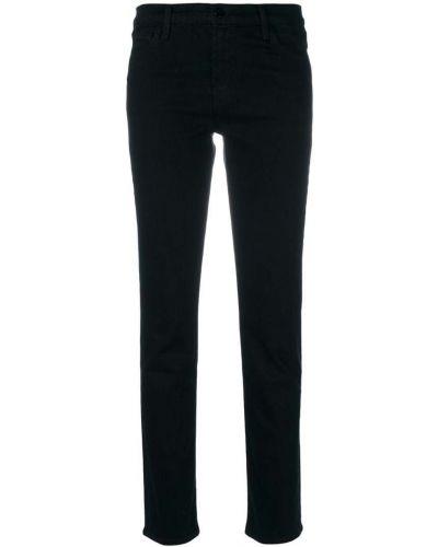 Укороченные джинсы слим фит черные J Brand