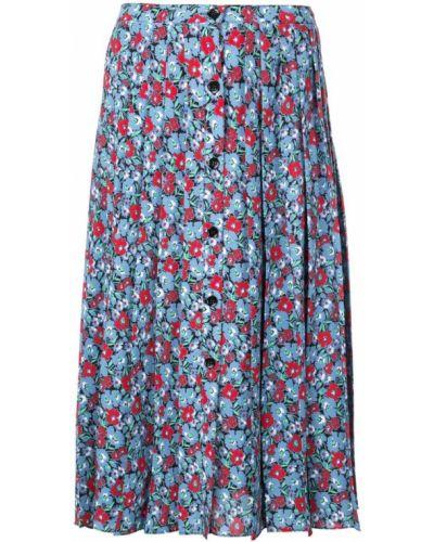 Расклешенная синяя юбка со складками Robert Rodriguez Studio