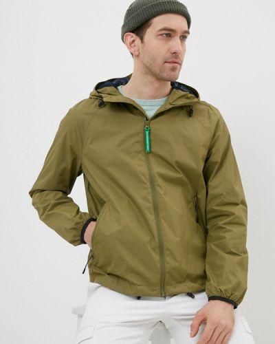 Облегченная куртка хаки United Colors Of Benetton