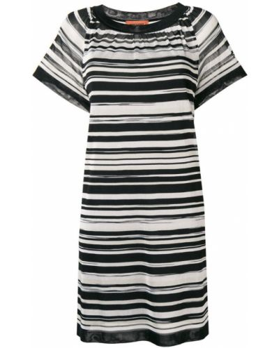 Платье мини в полоску с вырезом Missoni
