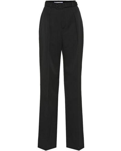 Wełniany spodni czarny spodnie Givenchy