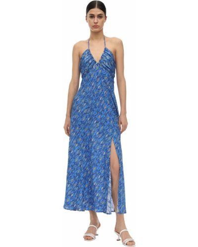 Платье миди с V-образным вырезом шелковое Rixo