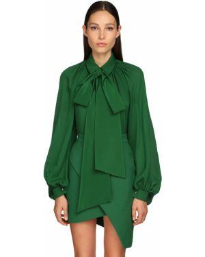 Блузка в полоску с воротником-стойкой Elie Saab