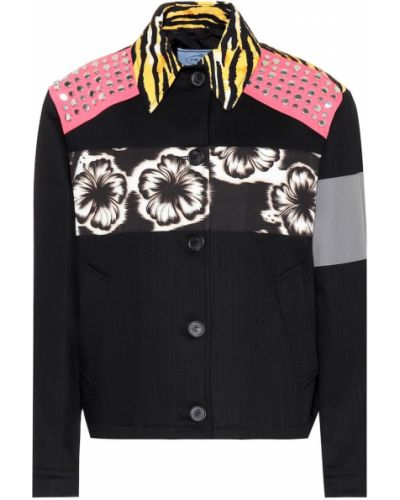 Хлопковая куртка - черная Prada
