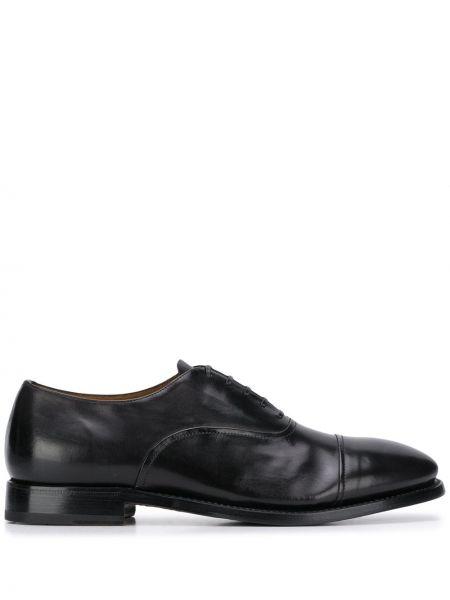 Кожаные черные оксфорды на шнуровке на каблуке Silvano Sassetti
