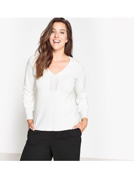 Пуловер с V-образным вырезом большой Castaluna