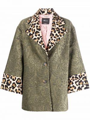 Бежевое длинное пальто Blumarine