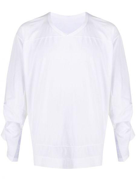 Хлопковая белая прямая футболка с V-образным вырезом Rick Owens Drkshdw