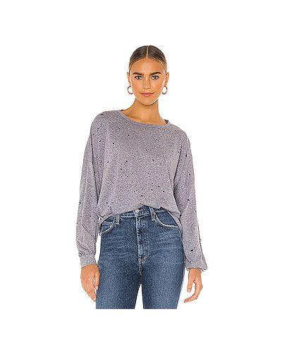 Шелковый серый свитер сетчатый с сеткой Michael Lauren