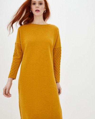 Желтое вязаное платье Прованс