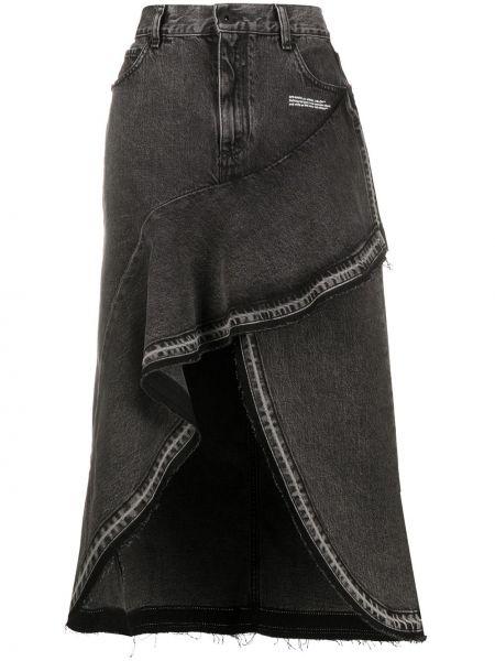 Джинсовая юбка на пуговицах с завышенной талией Off-white