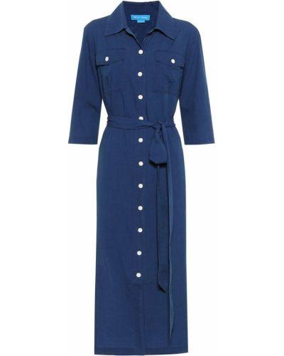 Платье рубашка - синее Mih Jeans