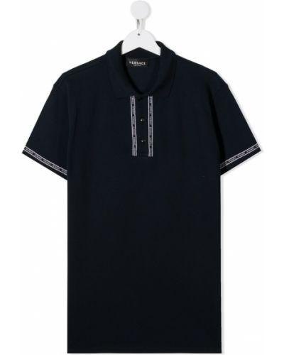 Niebieska koszula bawełniana Young Versace