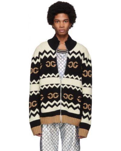 Sweter z kołnierzem srebro Gucci