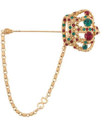 Брошь золотая Dolce & Gabbana
