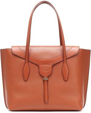 Кожаная сумка шоппер маленькая Tods
