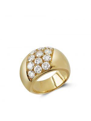 Z rombem pierścień z diamentem złoto Cartier