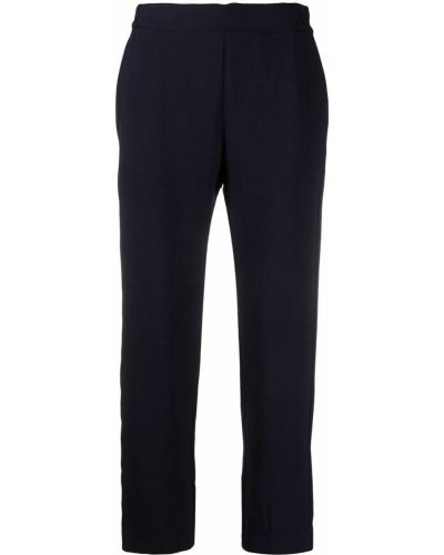 Прямые синие брюки эластичные Piazza Sempione