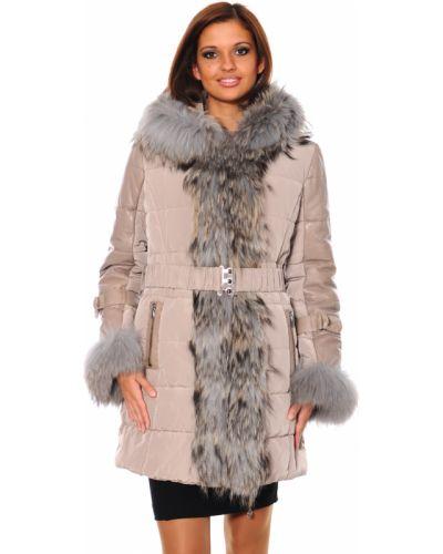 Пальто с капюшоном из енота Mor`a