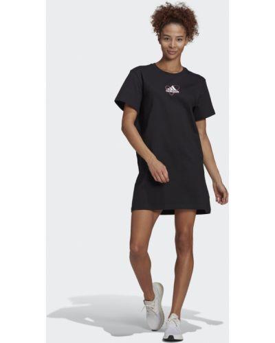 Черное платье Adidas