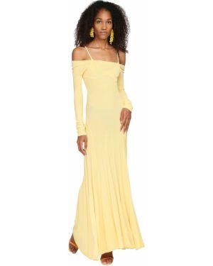 Платье с драпировкой с длинными рукавами Jacquemus
