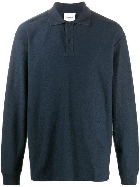 Синяя прямая рубашка с воротником на пуговицах Soulland