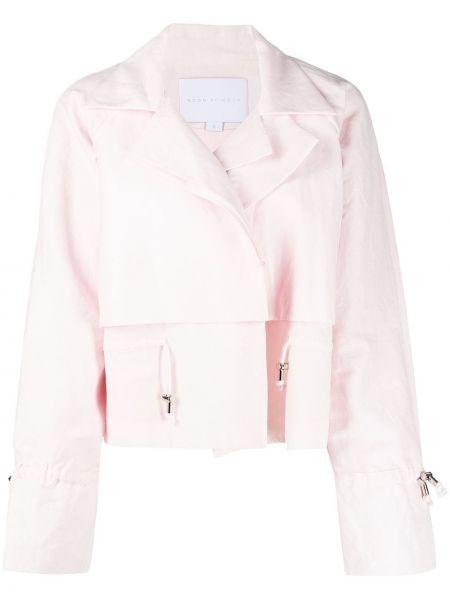 Хлопковая розовая куртка на пуговицах Noon By Noor