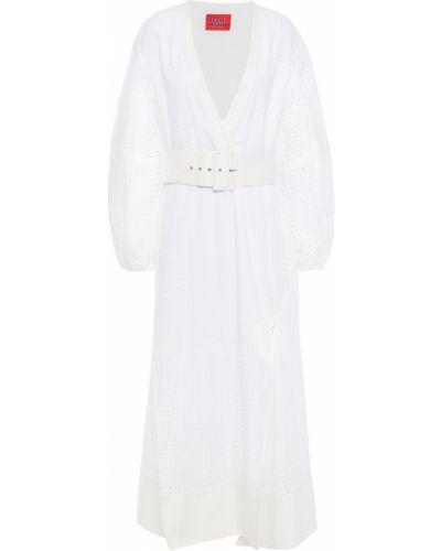 Хлопковое платье миди - белое Solace London
