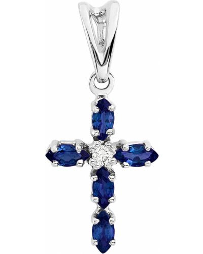 Серебряный крест с бриллиантом алькор