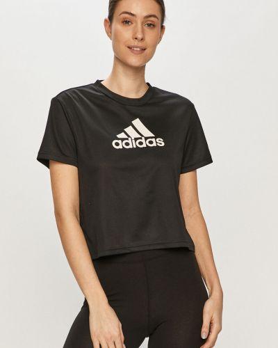 Czarny top dzianinowy na co dzień Adidas
