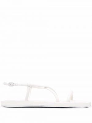 Sandały skórzane - białe Alexander Mcqueen