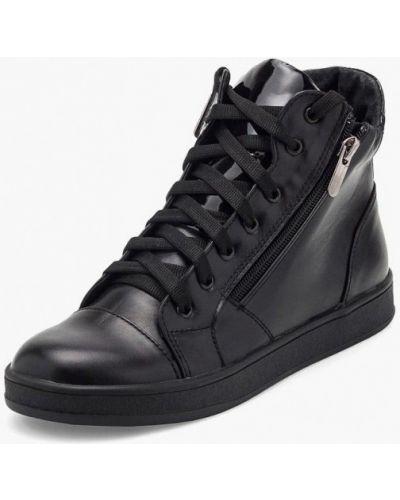 Кожаные сапоги кожаные черные Tops
