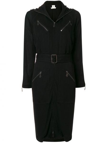 Платье с поясом винтажная на молнии Hermès