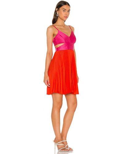 Czerwona satynowa sukienka mini Bcbgmaxazria